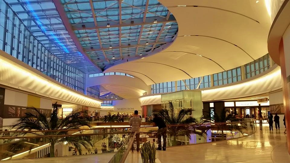 The Mall of San Juan is a , sq ft (60, m 2) upscale shopping mall located across from the San José Lagoon at the south end of the Teodoro Moscoso Bridge, near the Luis Muñoz Marin International Airport in Carolina, Puerto Rico.