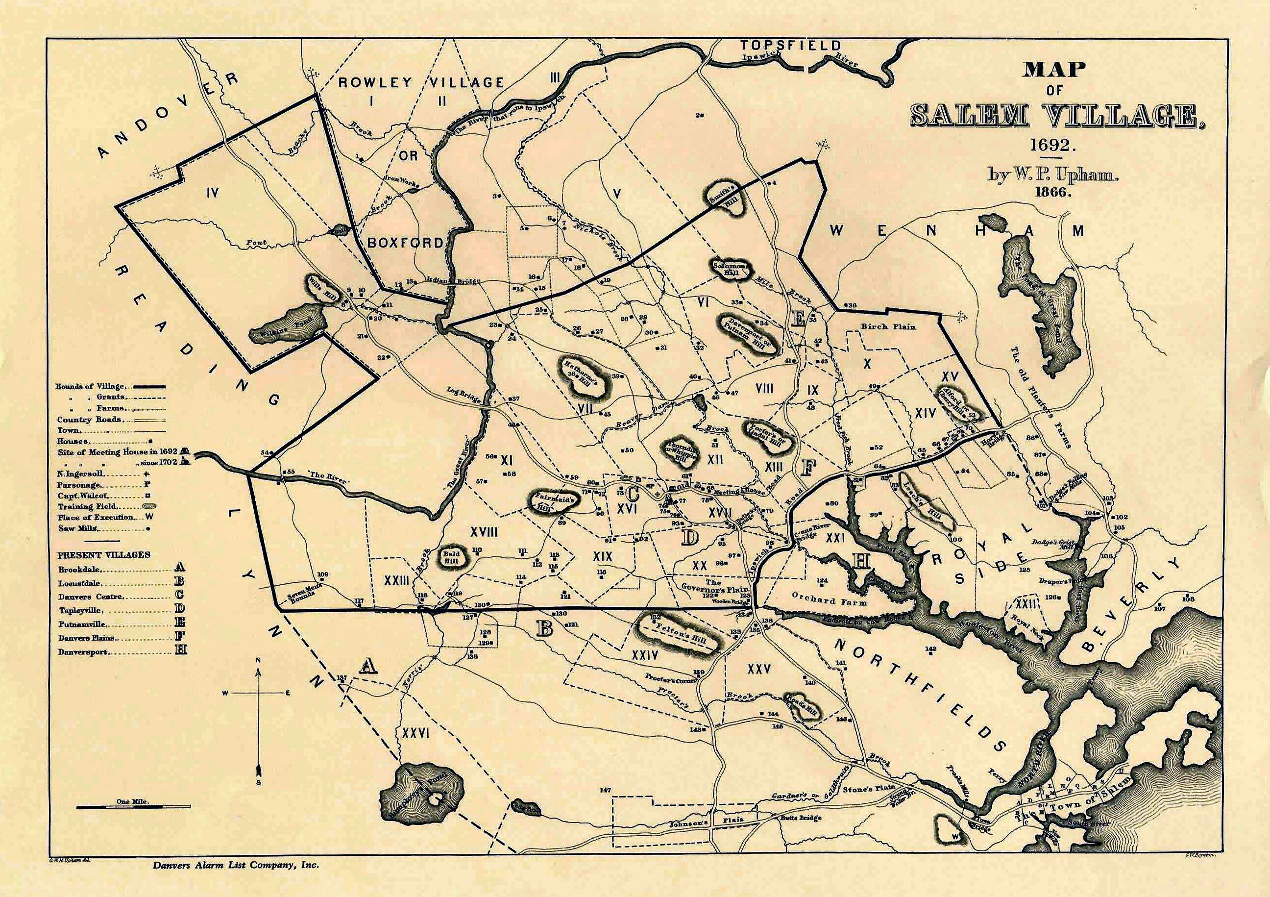 Map Of Salem File:Map of Salem Village.   Wikimedia Commons Map Of Salem