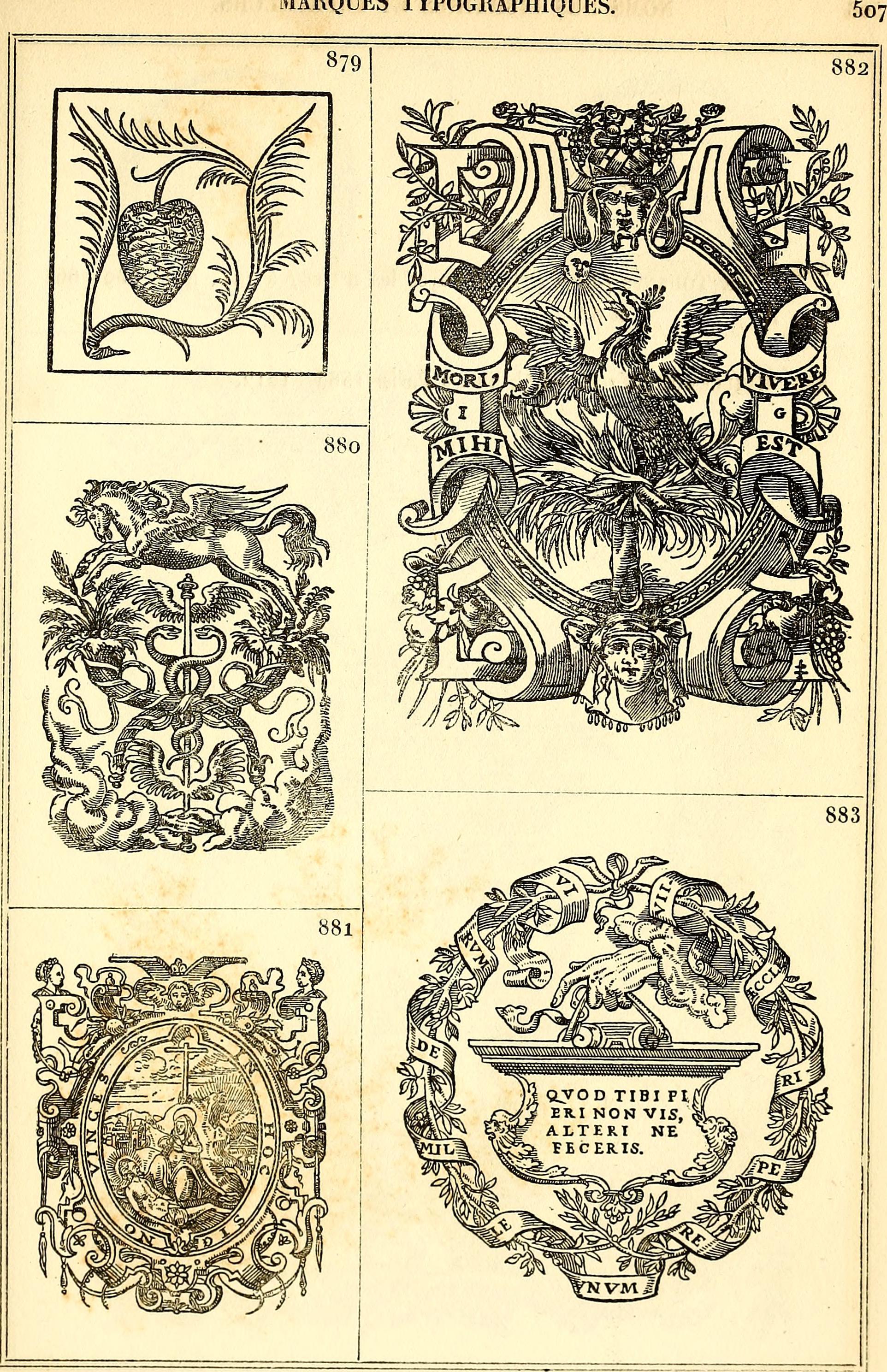 Filemarques Typographiques Ou Recueil Des Monogrammes