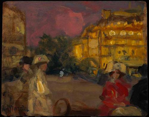 File:Morris Street Scene Pink Sky Paris 1908.jpg