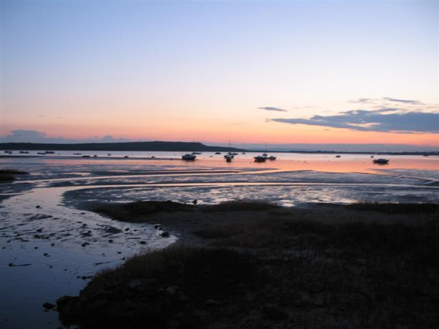 File:Mudeford Harbour sunset.jpg