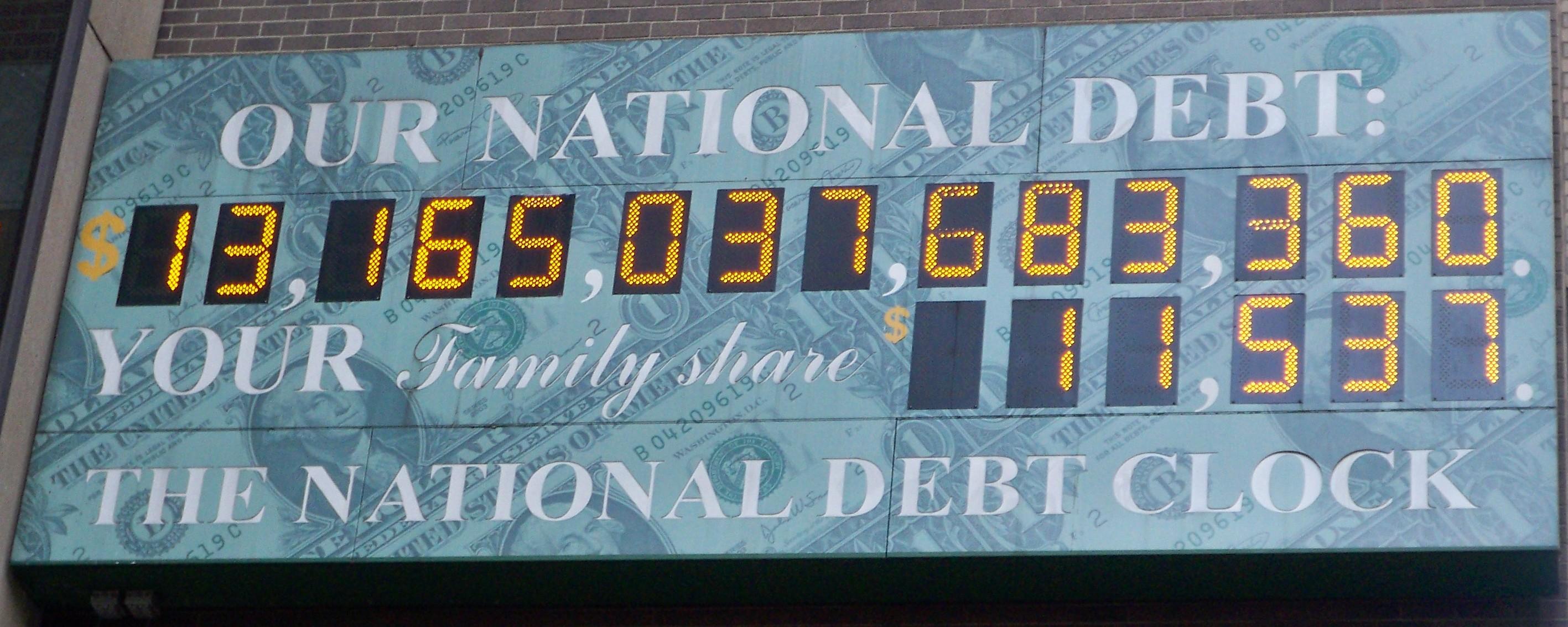 Us Debt Holders Chart: National Debt Clock by Matthew Bisanz.JPG - Wikimedia Commons,Chart