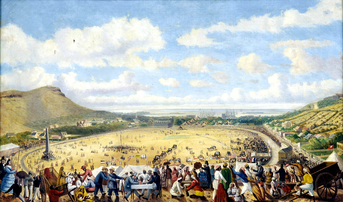 Painting representing the Champ de Mars in 1880 by Numa Desjardins. Photo by Wikimedia commons.