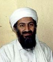 English: Osama bin Laden as he is interviewed ...
