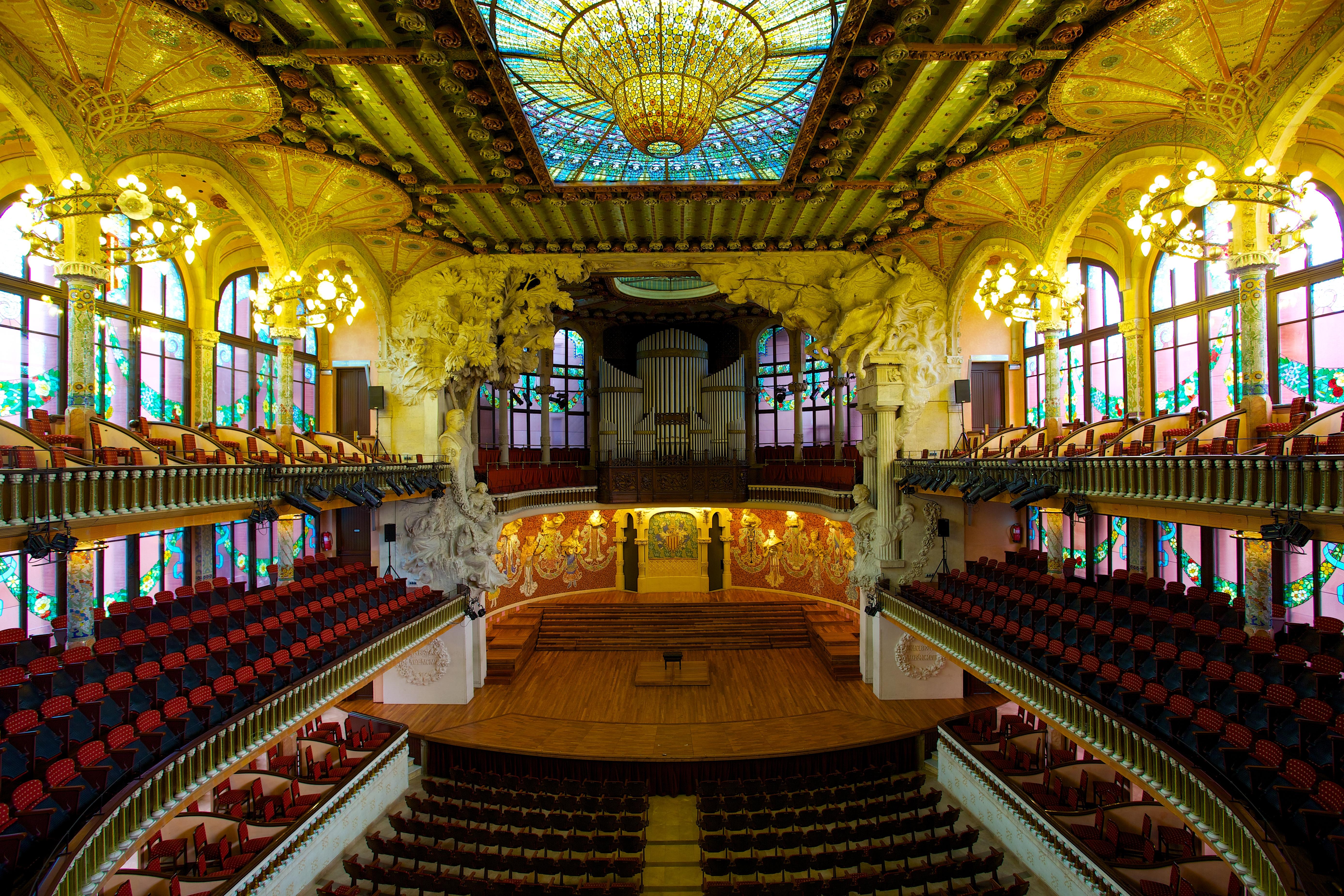 Patrimonio de la Humanidad en Europa y América del Norte. España. Palacio de la Música Catalana.
