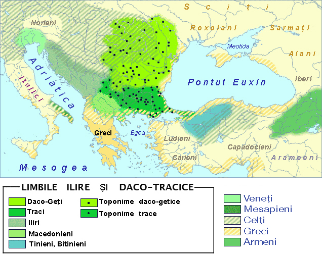 Fișier:Paleo-Balkan languages in Eastern Europe between 5th and 1st century BC - Romanian.jpg