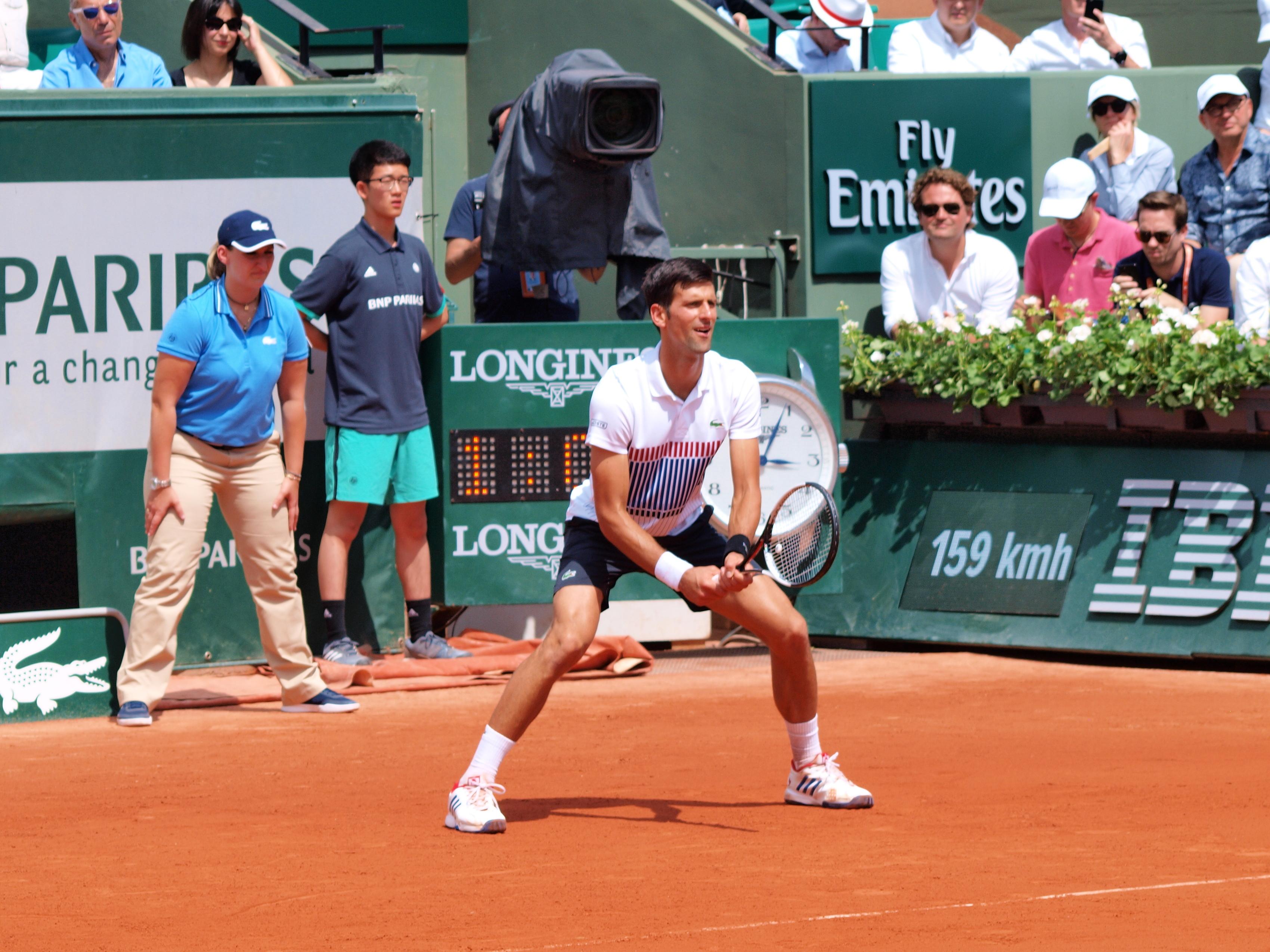 File Paris Fr 75 Open De Tennis 31 5 17 Roland Garros Novak Djokovic 30 Jpg Wikimedia Commons