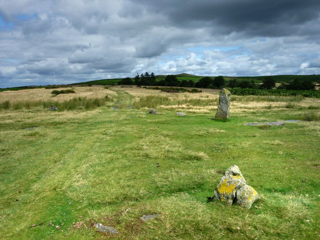Part of Mitchell's Fold, stone circle - geograph.org.uk - 1564742