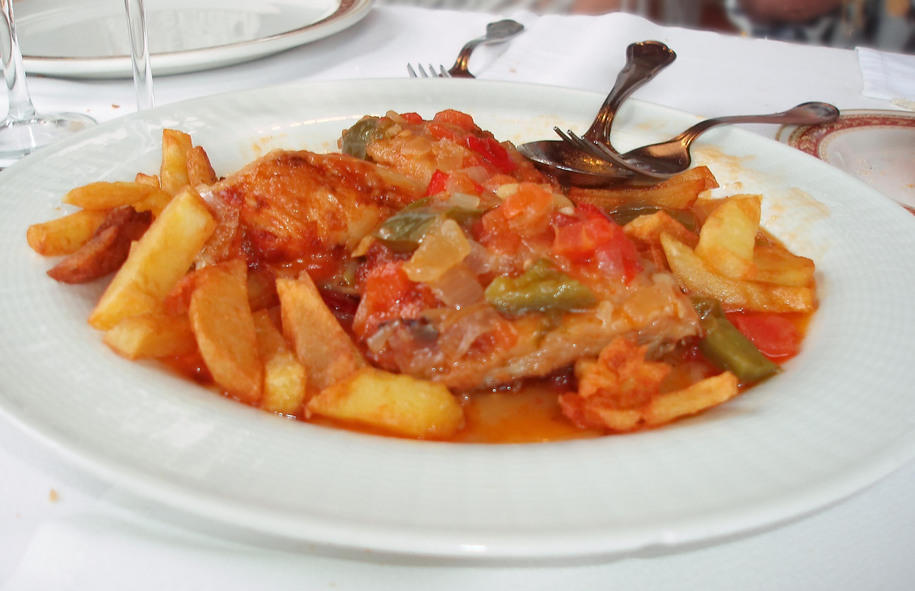 Pollo al chilindrón Zaragoza