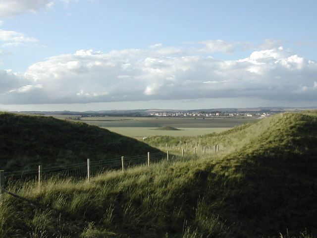 Poundbury from Maiden Castle - geograph.org.uk - 401969