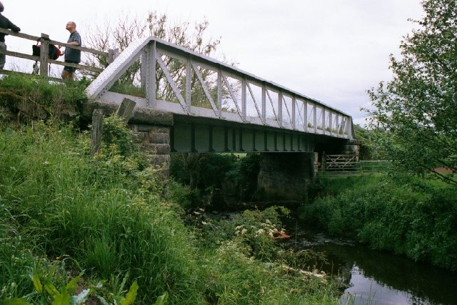 Railway bridge over River Churnet, Leek, North Staffs. - geograph.org.uk - 64874