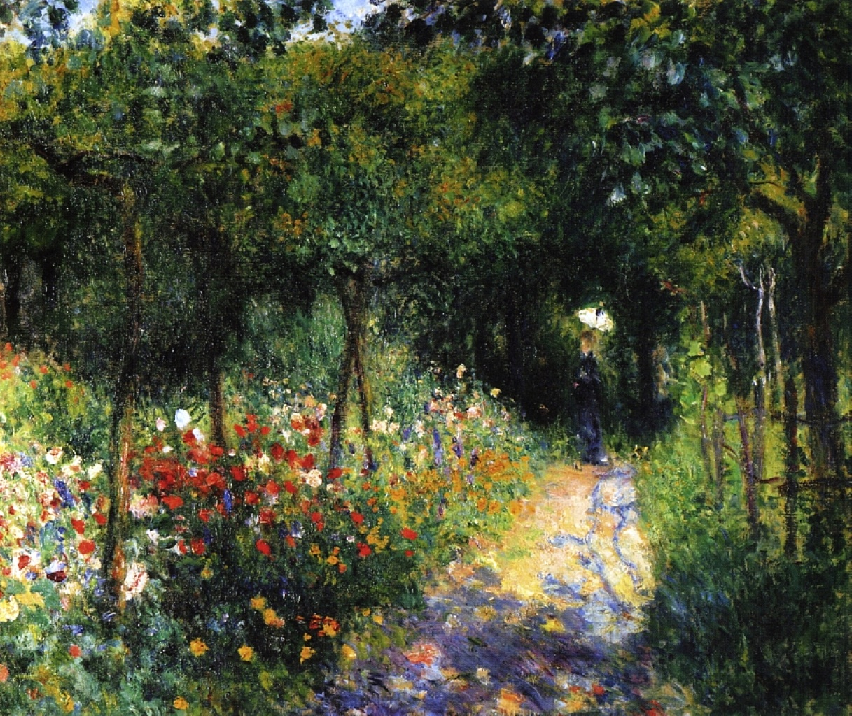 Image result for renoir woman in a landscape