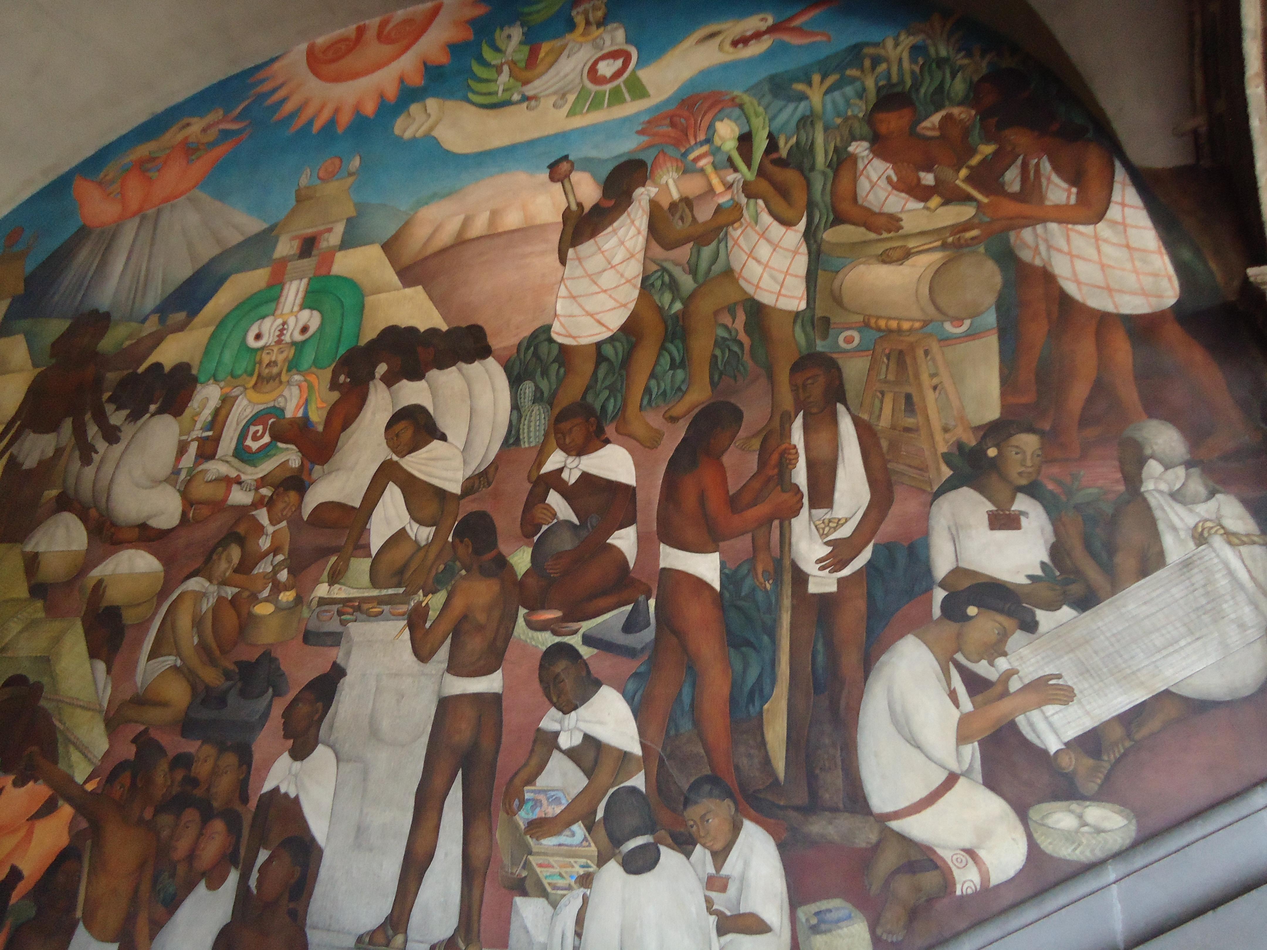File rivera mural palacio nacional indian mexico jpg for Diego rivera mural palacio nacional