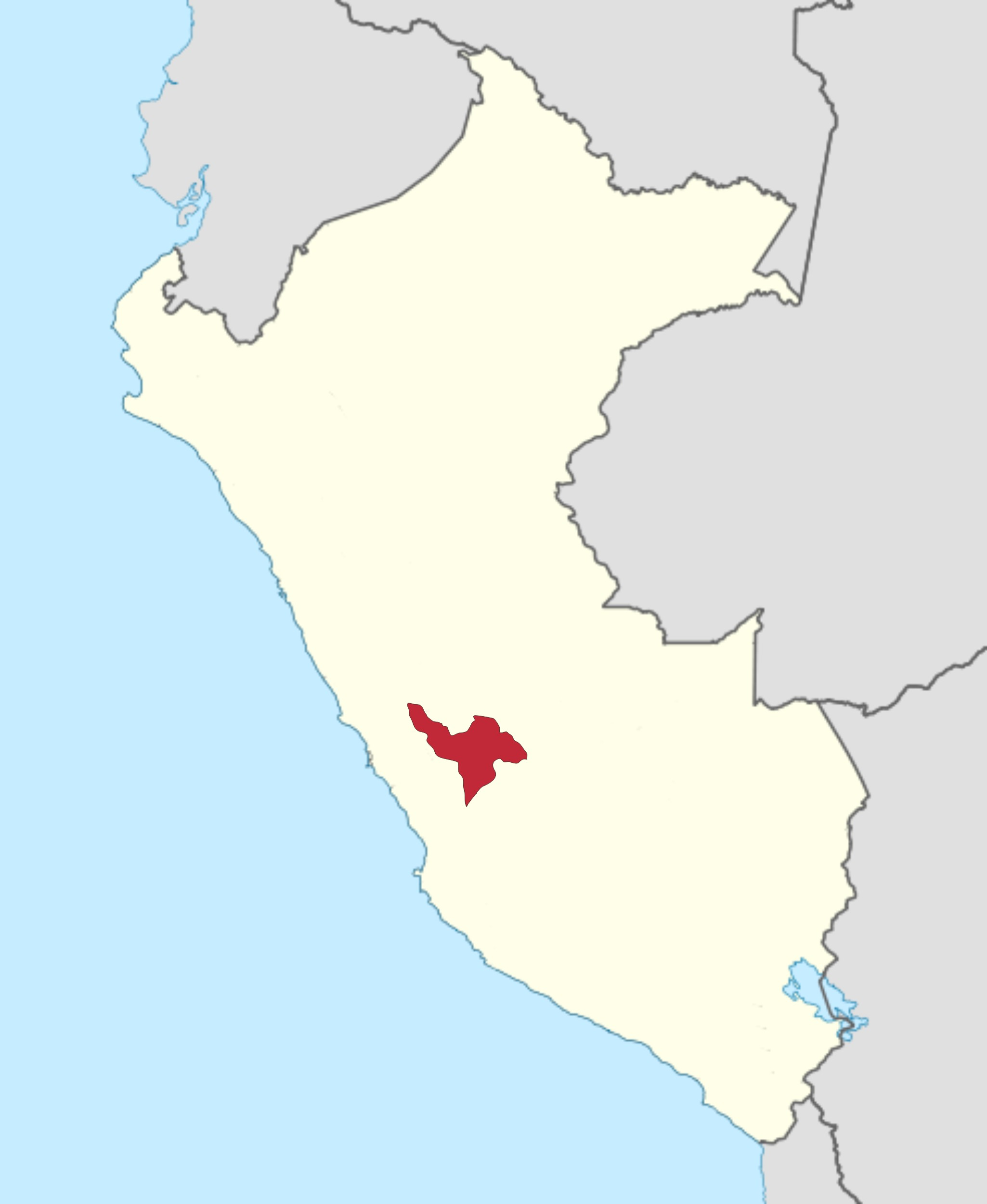 Huancayo Peru Map.File Roman Catholic Diocese Of Huancayo In Peru Jpg Wikimedia Commons
