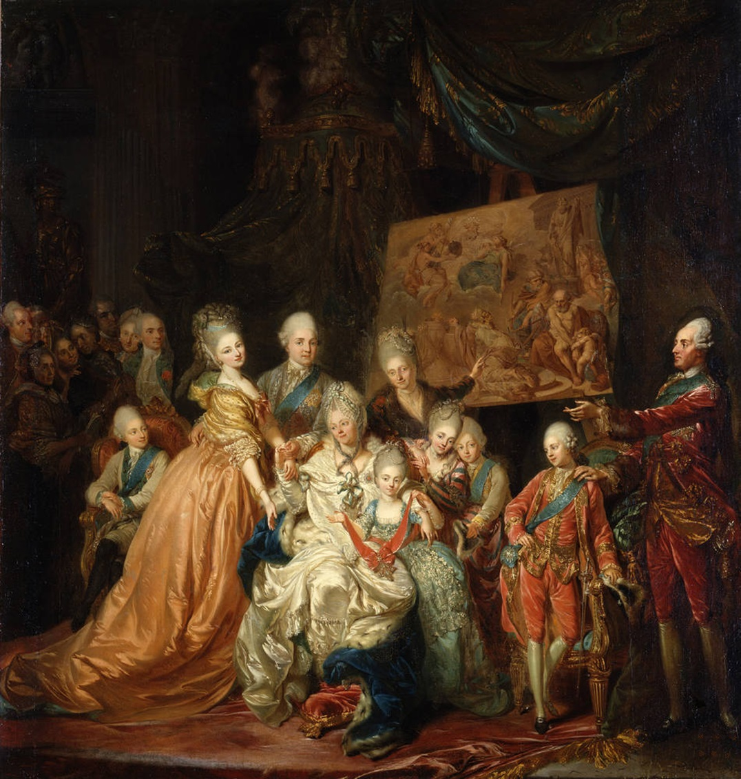 Painting of Maria Antonia and family by Johann Eleazar Zeissig