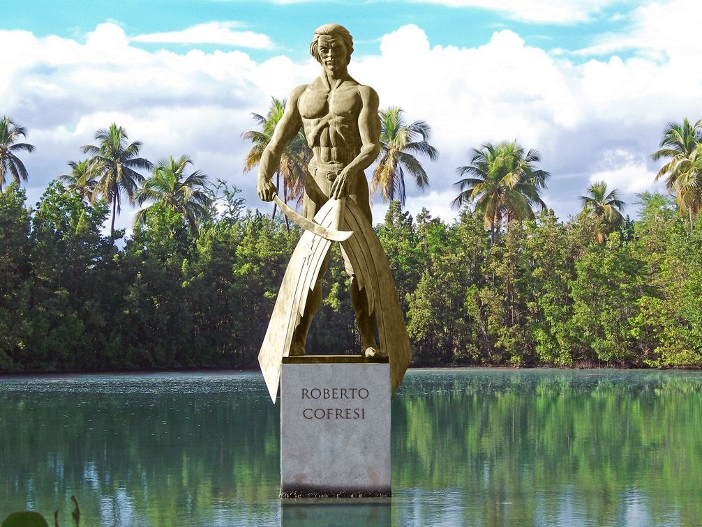 Statue of the pirate captain Roberto Cofresí.jpg