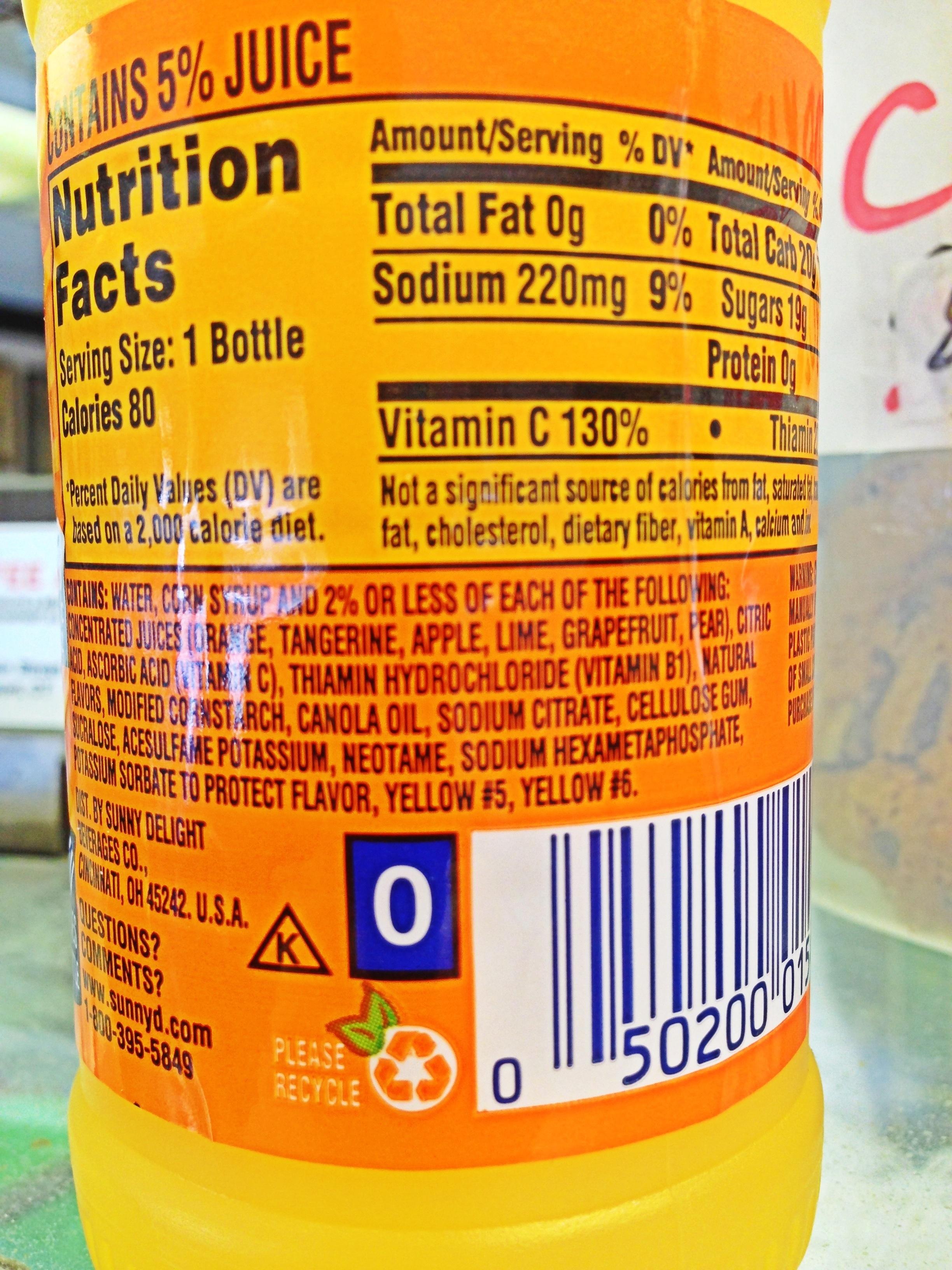 Nutrition Labels For Fast Food Restaurants