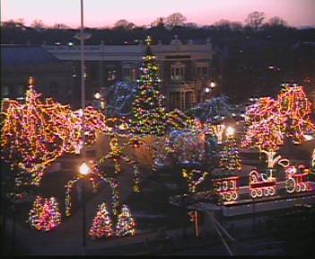 Christmas Lights on the Taunton Green