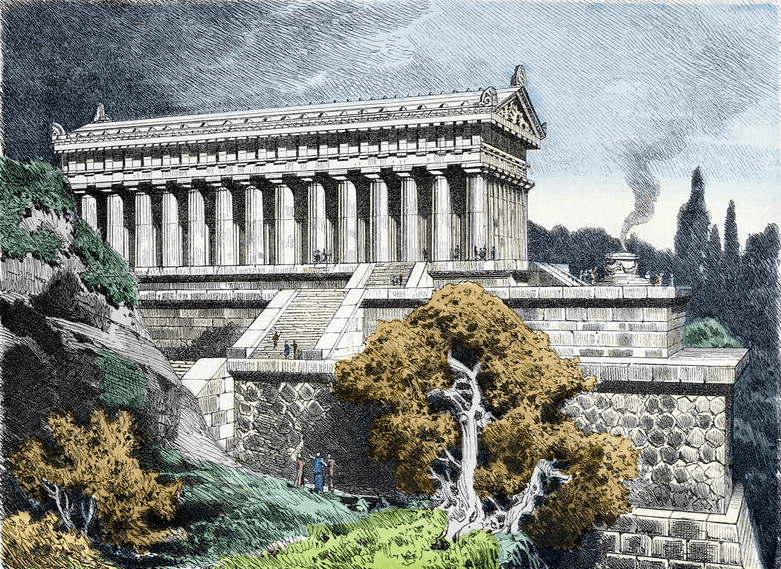 Temple of Diana at Ephesus by Fedinand Knab (1886)