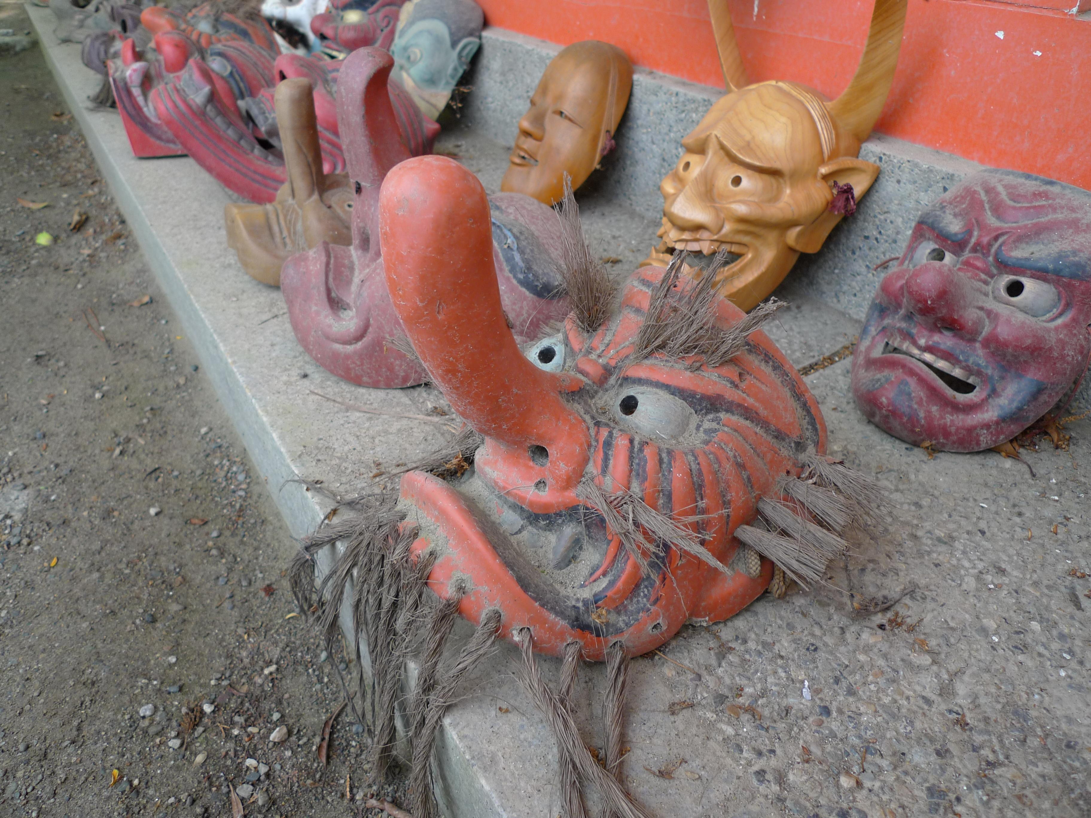Tengu Masks, Awashima jinja shrine 2.jpg