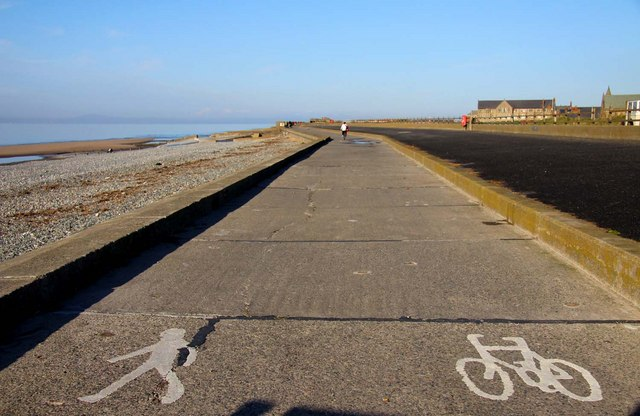 The Lancashire Coastal Way and cycle track in Cleveleys - geograph.org.uk - 1593222