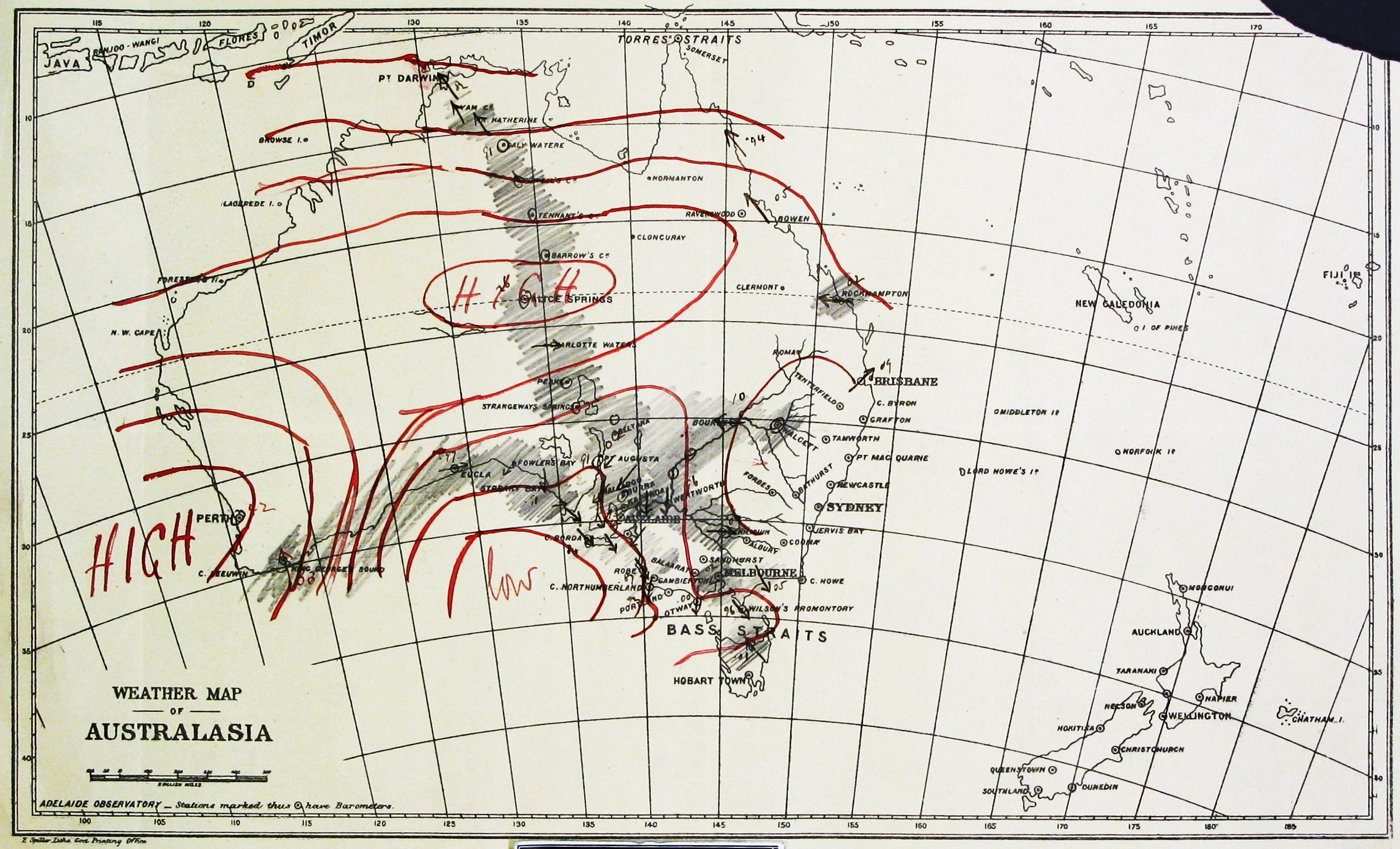 Aviation Weather Charts: Todd Weather Folios Early synoptic chart 1882 May 29.jpg ,Chart
