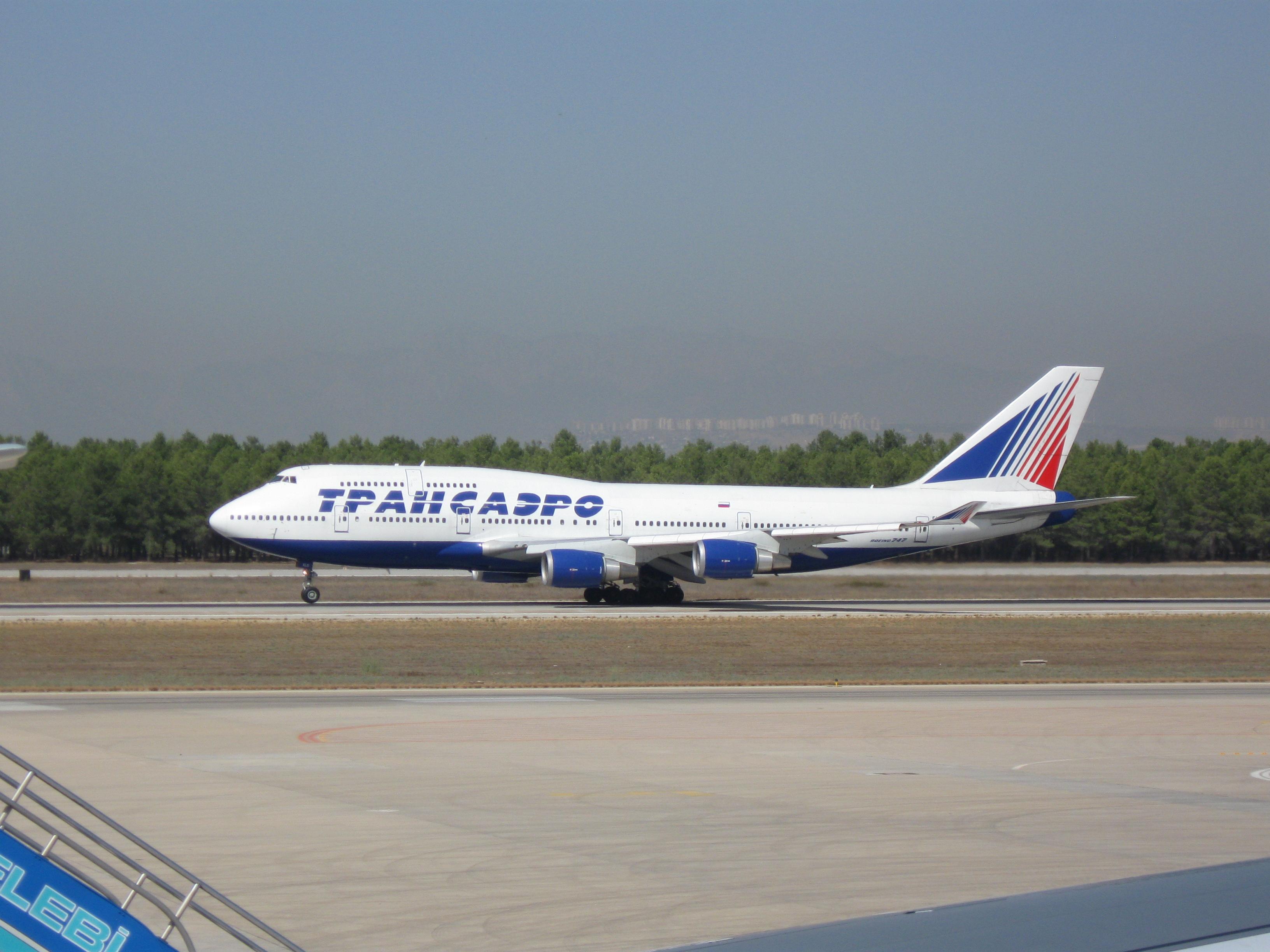 трансаэро боинг 747-400 фото