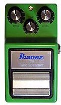 The Ibanez TS9 Tube Screamer is a popular overdrive pedal