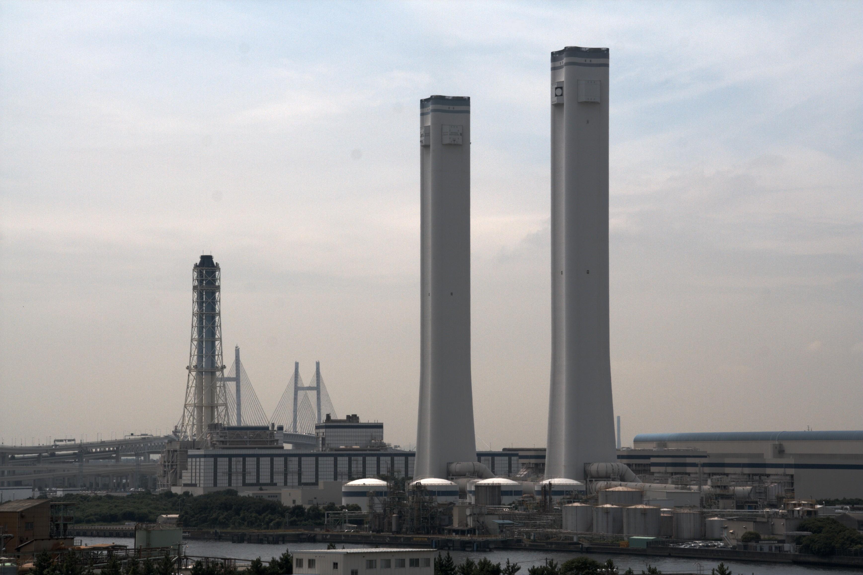 Twin Tower TEPCO Yokohama power station02.jpg