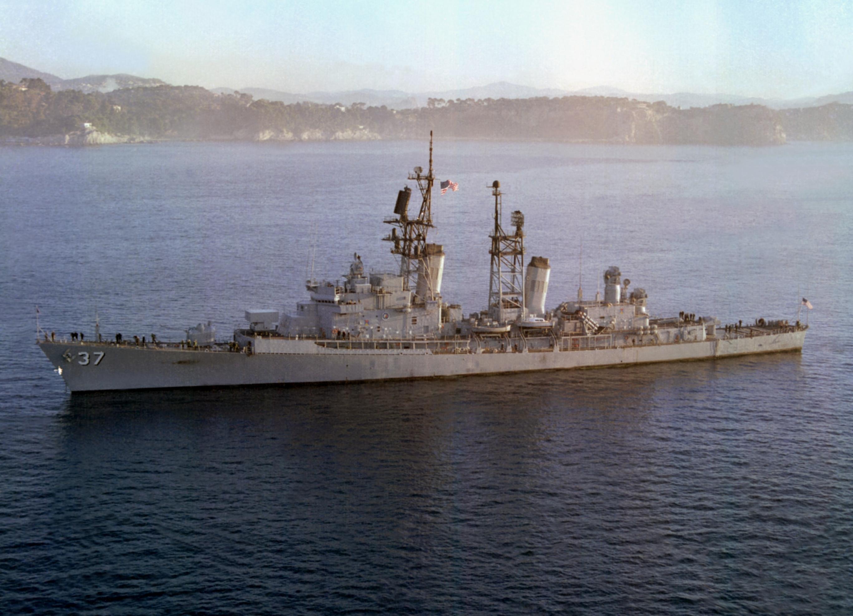 The U.S. Navy guided missile destroyer USS Farragut (DDG