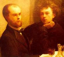 Detail met Rimbaud en Verlaine