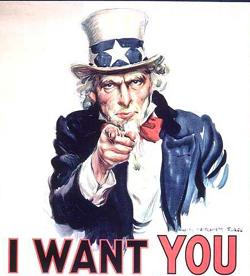 Uncle Sam recruiting poster.