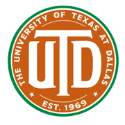 University of Texas at Dallas orange and green detailed Monogram logo.png