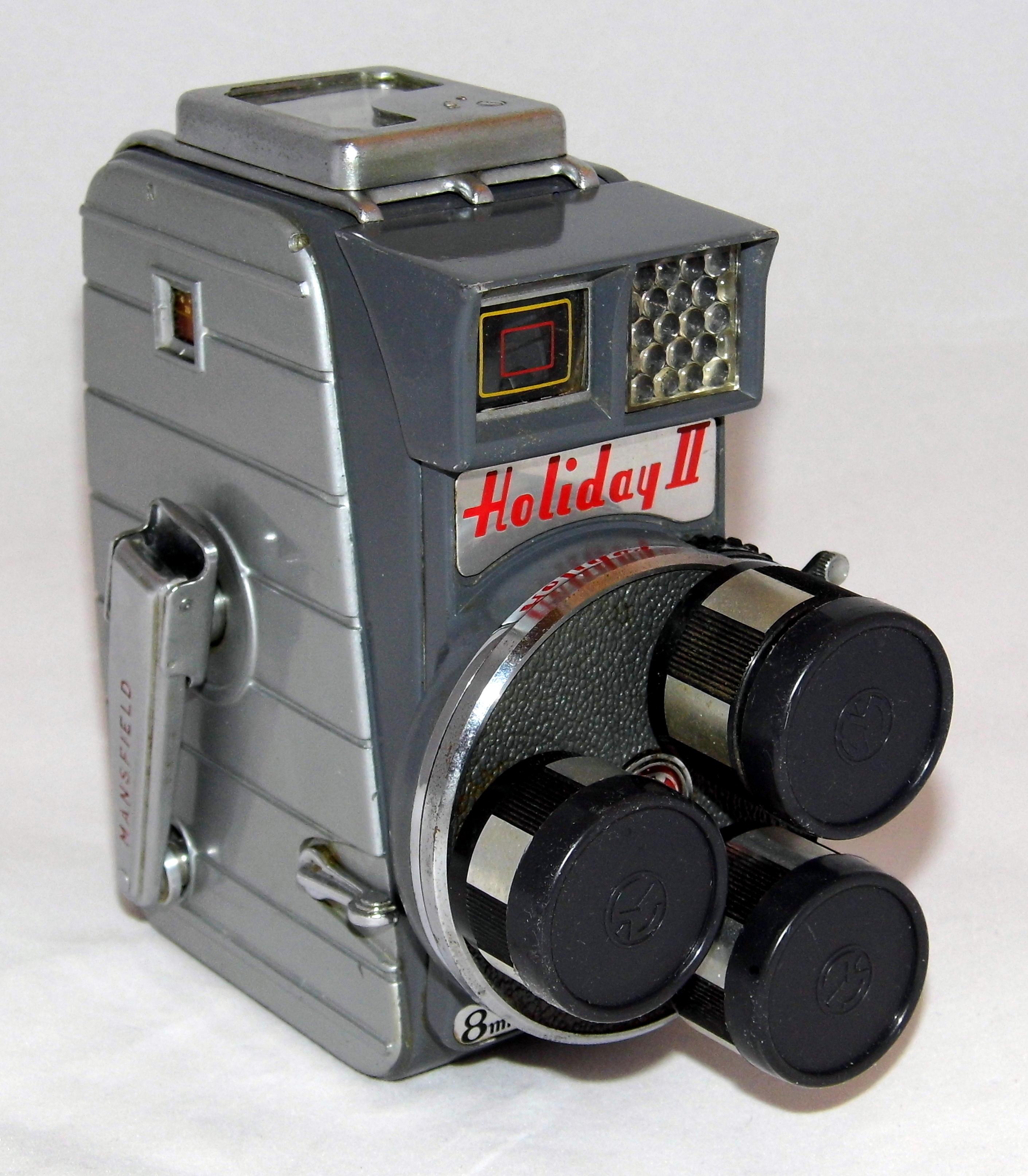 8Mm Vintage Camera file:vintage mansfield holiday ii 8mm triple turret lens