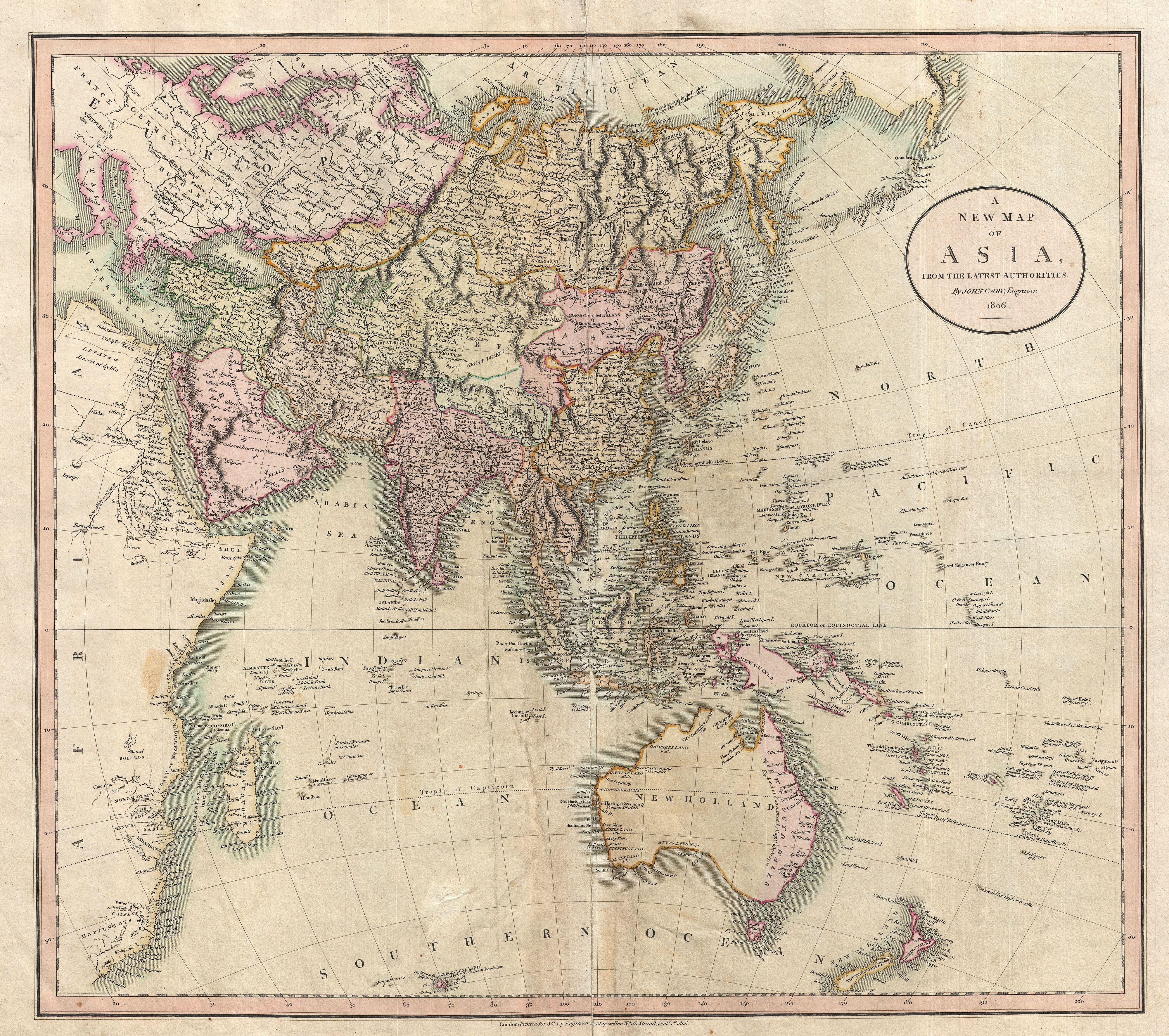 file1806 cary map of asia polynesia and australia geographicus asia