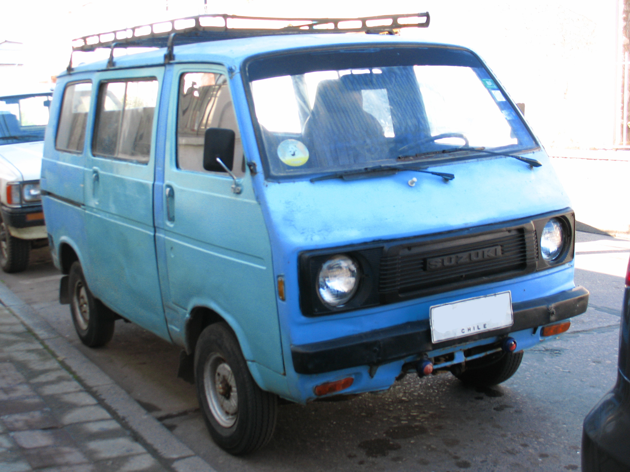 Suzuki Carry Wikipedia Mobil L300 Bekas St80v Facelift Version Chile This Style Of Grille Appeared In October 1977