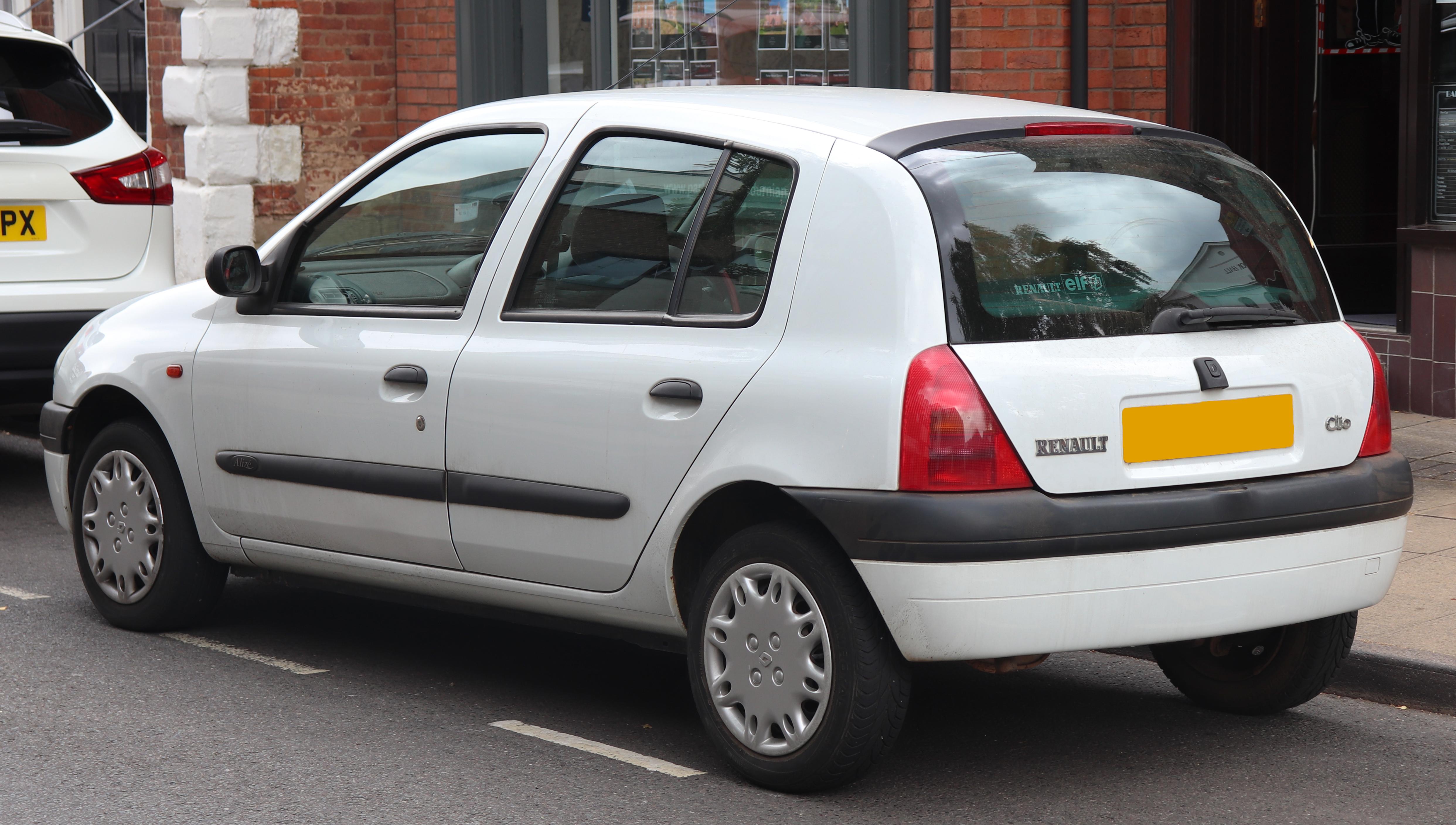 Oryginał File:2001 Renault Clio Alize 1.4 Rear.jpg - Wikimedia Commons QE88