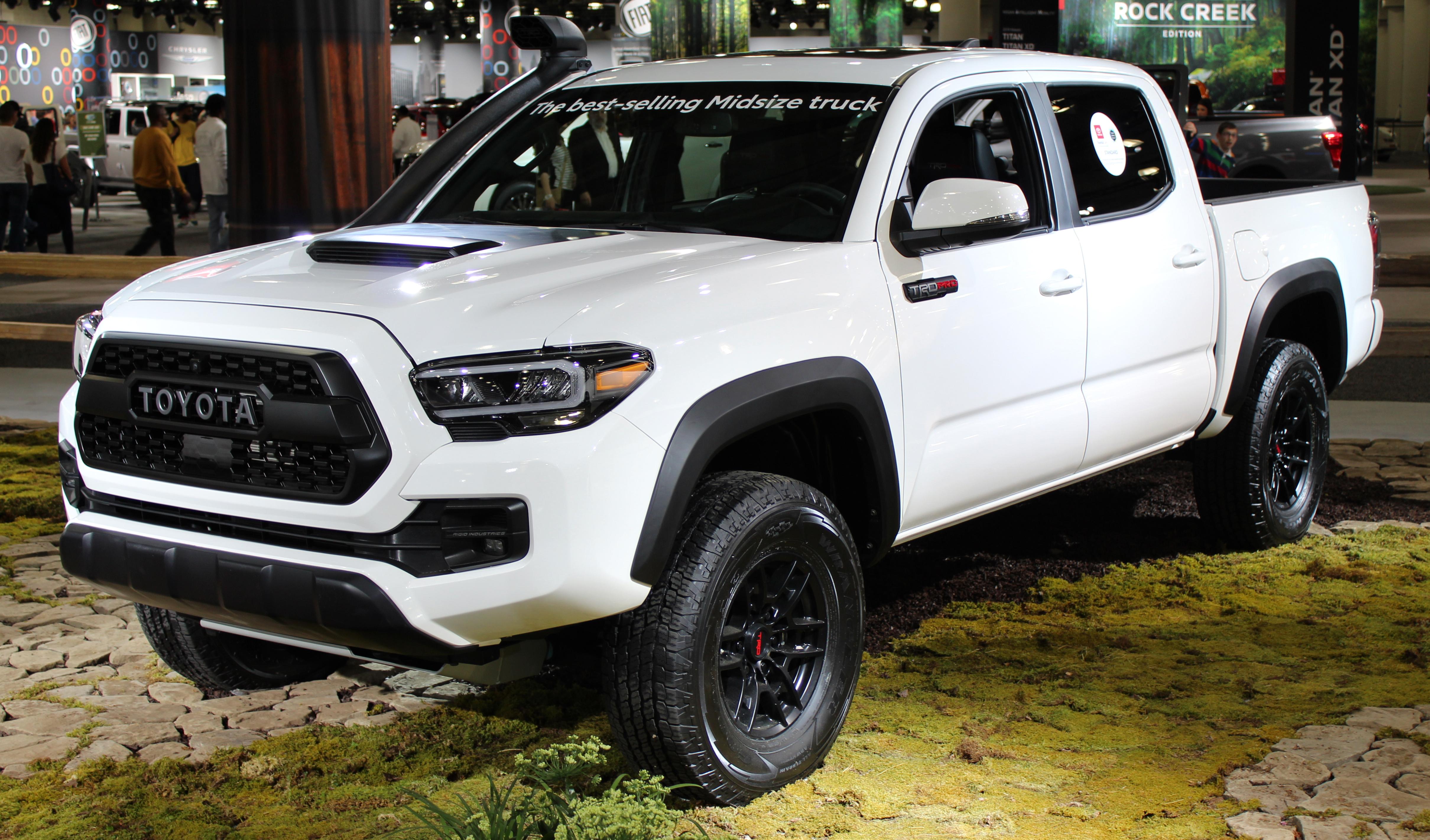 White Toyota Tacoma