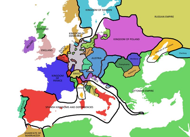 Europe Map 800