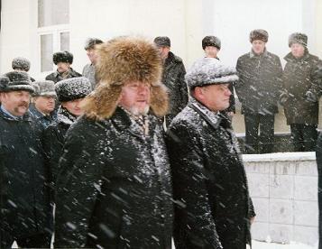 Рубцовск. Открытие нового железнодорожного вокзала. 1 декабря 2004 года.