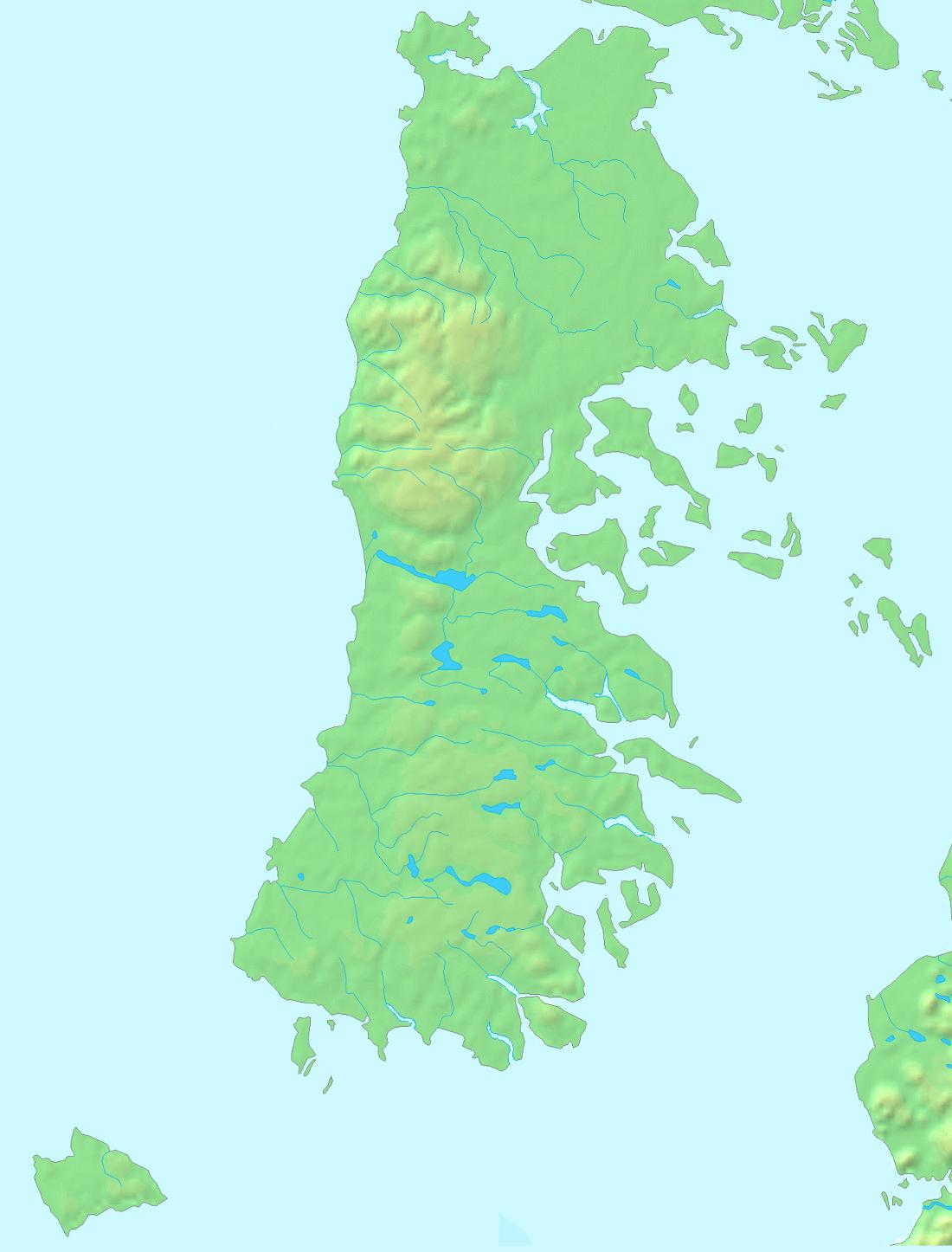 Mapa del archipiélago (las islas del extremo superior derecho no forman parte de él)