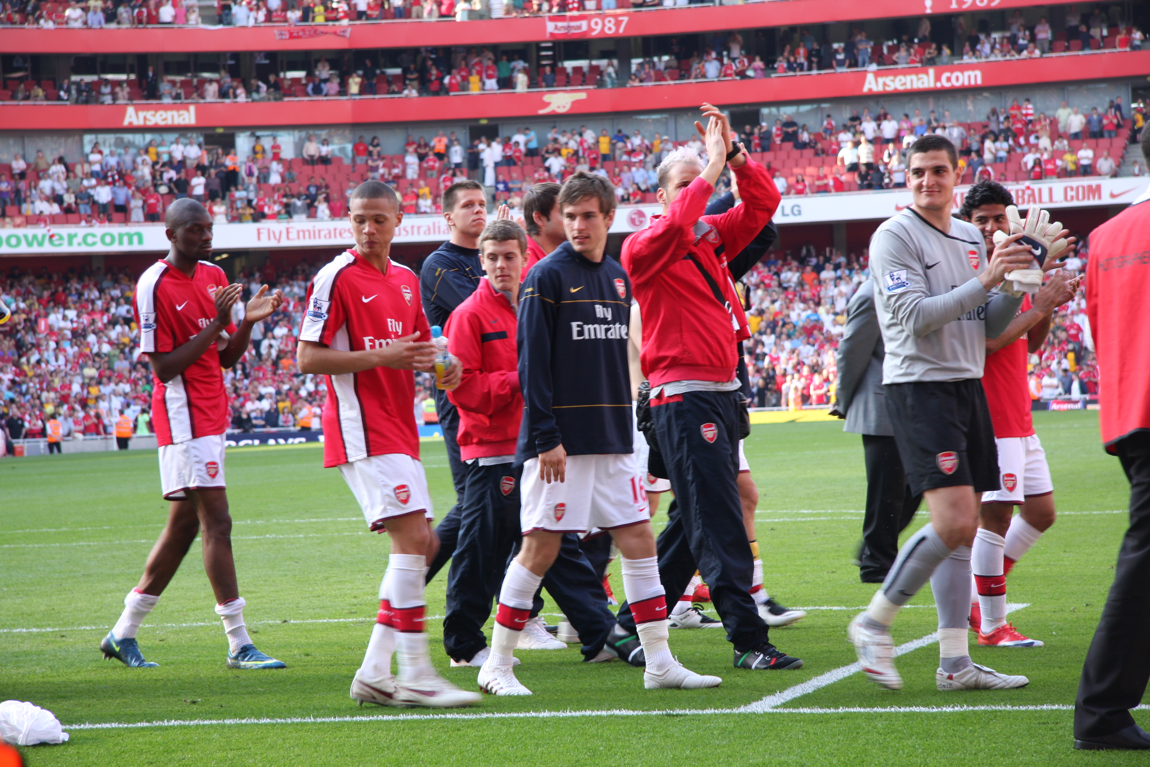 Image result for Aaron Ramsey first goal for arsenal
