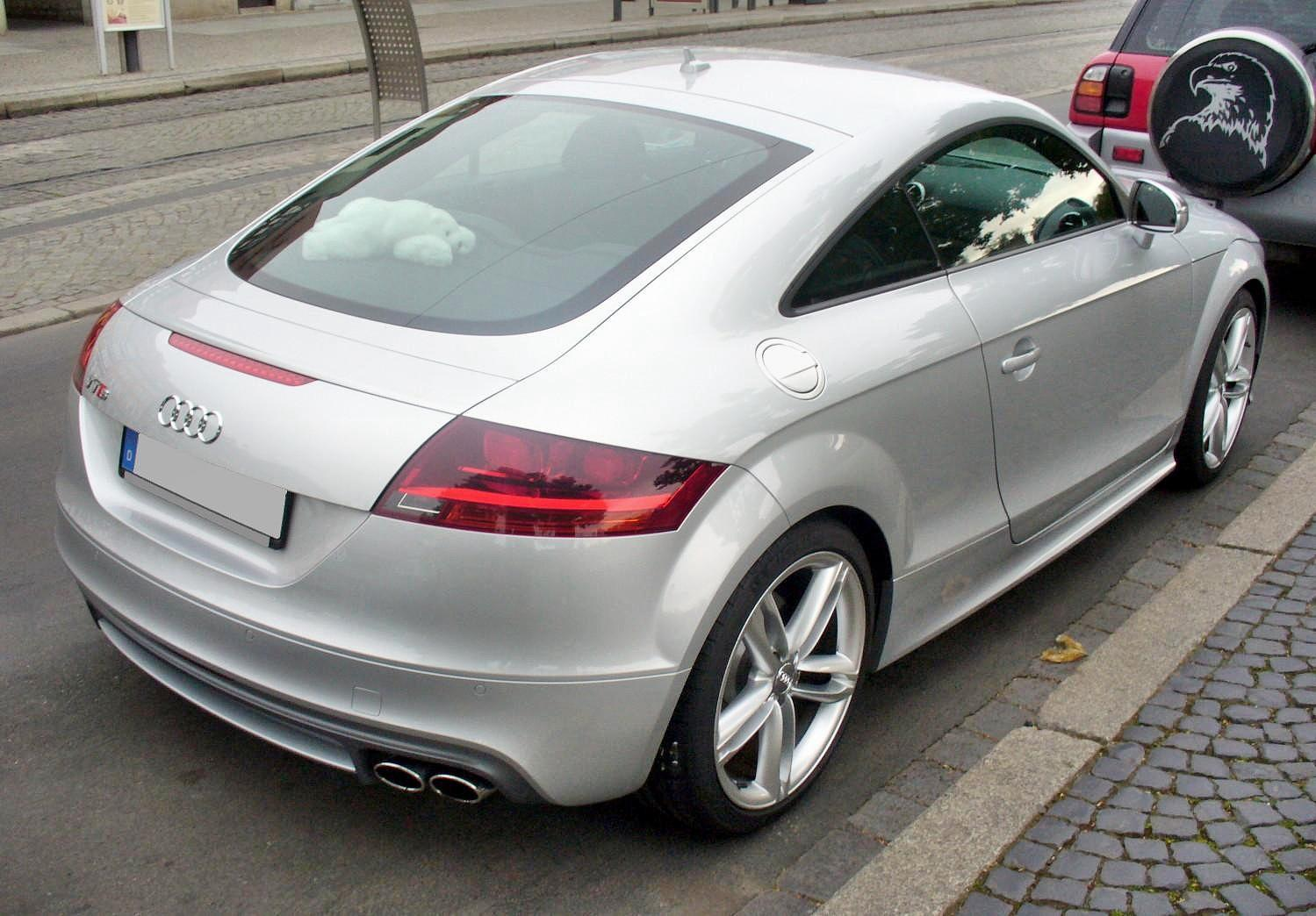 File Audi Tts Coup 233 Eissilber Heck Jpg Wikimedia Commons