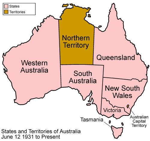 Australia Map 6 States.File Australia States 1931 Present Png Wikimedia Commons