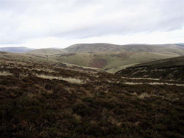 Beef Stand looking to Black Braes and Windy Gyle - geograph.org.uk - 614531