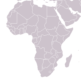 Political map of Africa. (Hover mouse to see name, click area to go to article.)
