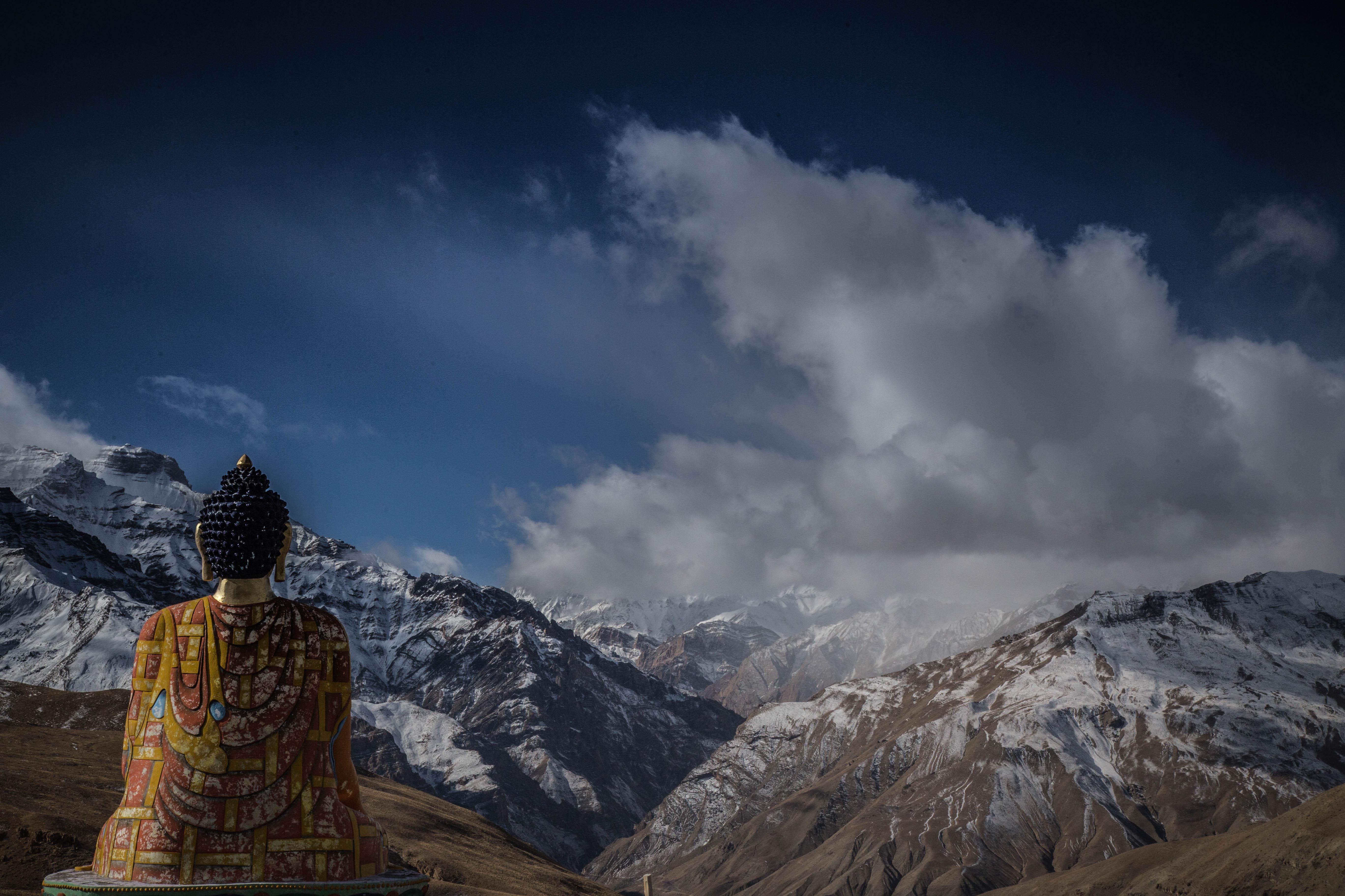 Spiti Valley buddha statue