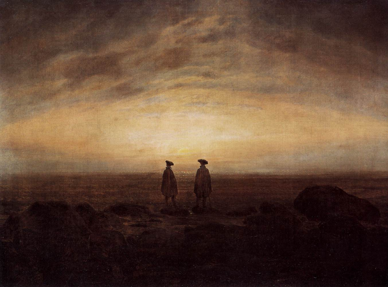 file caspar david friedrich two men by the sea wga8249. Black Bedroom Furniture Sets. Home Design Ideas