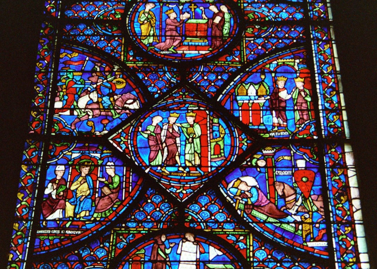 Stained Glass Window At Chartres Cathedral Via Wikmedia Courtesy Of Juan JRodriguez