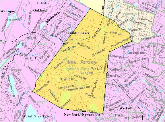 franklin lakes nj map File Census Bureau Map Of Franklin Lakes New Jersey Png franklin lakes nj map